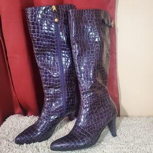 J. Renee Britta Alligator Boots